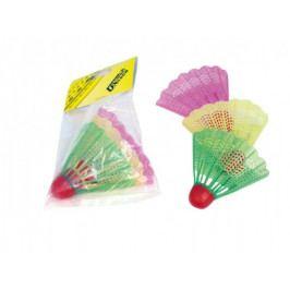 UNISON Badmintonové míčky/košíčky plast 3ks v sáčku 11x17cm