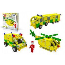 Vista Stavebnice Seva Rescue 3 Záchranáři plast 537ks v krabici 35x33x8cm