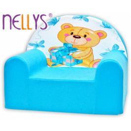NELLYS Dětské křeslo Nellys - Míša Nellys v modrém