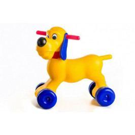 Teddies Odrážedlo pes plast výška sedadla 26cm nosnost do 20kg od 18 měsíců