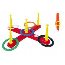 Teddies Házecí hra kříž s kruhy plast 5ks v síťce