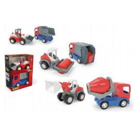 WADER Auto stavební Tech truck 2v1 plast 23cm v krabici 26x35x15cm Wader