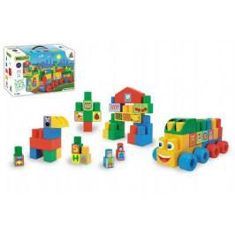 WADER Kostky stavebnice Middle Blocks plast 140ks v krabici 59x35x20cm Wader