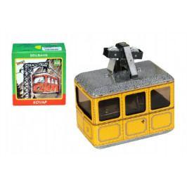Kovap Lanovka žlutá na klíček kov 10x7,5cm v krabičce Kovap