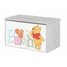 Box na hračky, truhla Disney - Medvídek PÚ a prasátko