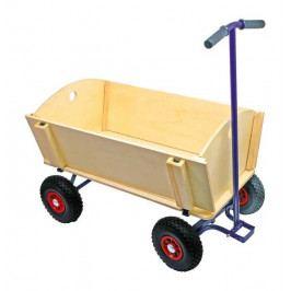 Small foot by Legler Dřevěné hračky - Dřevěný vozik na tahání