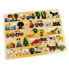 Small foot by Legler Dřevěné hračky - Vkládací puzzle Velká farma
