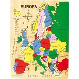 Small foot by Legler Vkládací puzzle Evropa