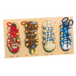 Small foot by Legler Motorická hra na provlékání - Zavazování tkaniček