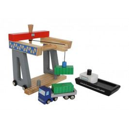 Small foot by Legler Dřevěné hračky pro kluky - Kontejnerový terminál