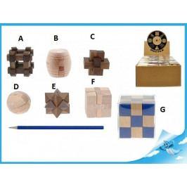 Mikro Trading Dřevěný hlavolam - Hnědý kříž - C