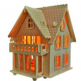 Woodcraft construction kit Dřevěné skládačky 3D puzzle -  Vila B - MW102