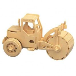 Woodcraft construction kit Dřevěné 3D puzzle dřevěná skládačka auta - Válec P027