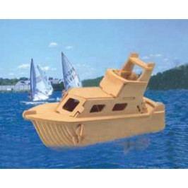 Woodcraft construction kit Dřevěné 3D puzzle - dřevěná skládačka - loď - Jachta P041