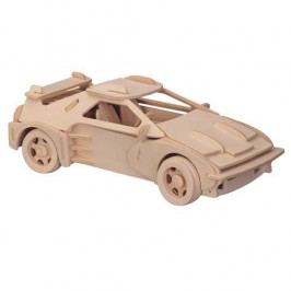 Woodcraft construction kit Dřevěné 3D puzzle dřevěná skládačka auta velké Ferrari P065