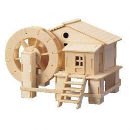 Woodcraft construction kit Dřevěné skládačky 3D puzzle slavné budovy - Vodní mlýn P068