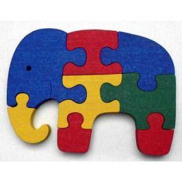 Makovský Dřevěné hračky - vkládací puzzle - Slon bez rámečku