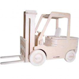 Woodcraft construction kit Dřevěné 3D puzzle skládačka auta - Vysokozdvižný vozík P144