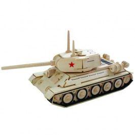 Woodcraft construction kit Dřevěné 3D puzzle dřevěná skládačka auta - Tank T-34 P175
