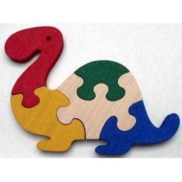 Makovský Dřevěné hračky - vkládací puzzle - Brontosaurus bez rámečku