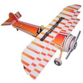 Woodcraft construction kit Dřevěné skládačky 3D puzzle letadla - Trojplošník PC074