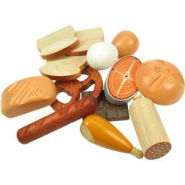 Santoys Dřevěné potraviny - Sada potravin 13 kusů