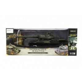 Teddies Tank RC plast 33cm T34 27MHz na baterie+dobíjecí pack se zvukem a světlem v krabici 40x15x19cm