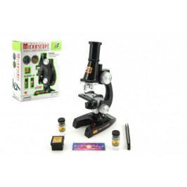 Teddies Mikroskop s doplňky plast 21cm na baterie se světlem 8+