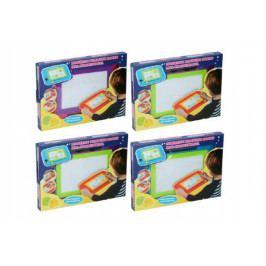 Teddies Magnetická tabulka kreslící plast 33x24cm s doplňky asst 4 barvy v krabici