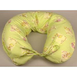 Kaarsgaren s.r.o. Kojící polštař flanelový zelený miminka