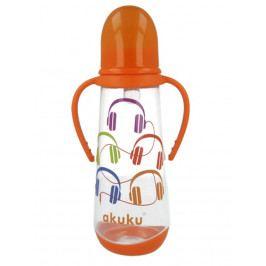 Láhev s obrázkem Akuku 250 ml oranžová