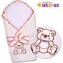 Baby Nellys Zavinovačka s výztuží Teddy Bear - velur - ecru