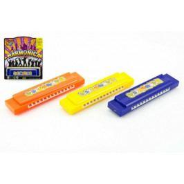 Teddies Harmonika plast 13cm asst 3 barvy na kartě