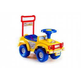 Teddies Odrážedlo auto Yupee žluté 53,5x48,3x26cm v krabici od 12 do 35 měsíců