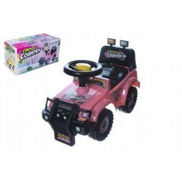 Teddies Odrážedlo auto Cross country růžové 53x48x26cm v krabici od 12 do 35 měsíců