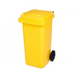 VEN Popelnice hranatá 120l PVC - žlutá 106584