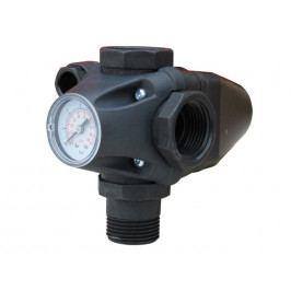 Výtlačná tvarovka s integrovaným tlakovým spínačem a manometrem