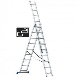 Žebřík G21 3-dílný 5,9m, 3x9 příček