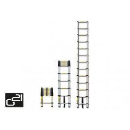 Teleskopický žebřík G21 GA-TZ9-2,6M hliníkový