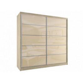 Šatní skříň 200 cm s posuvnými dveřmi Hetty