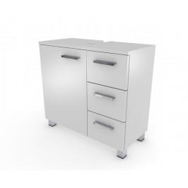 Bílá skříňka pod umyvadlo Neka 65 cm - nožičky aluminium