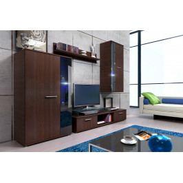 Obývací stěna s komodou, model Kendykom Bílá
