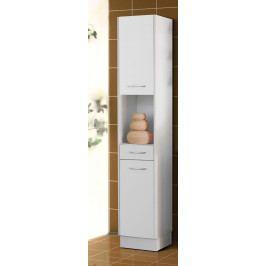 Levná koupelnová skříňka vysoká Lusy Bílá