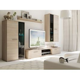 Levná obývací stěna model Kendy Bílá