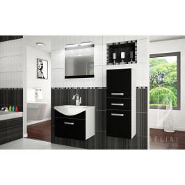 Moderní koupelnová sestava FINE 1PRO s led osvětlením + zrcadlo a umyvadlo ZDARMA 175