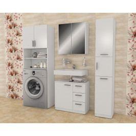 Praktická koupelnová skříňka nad pračku  Alaska bílá