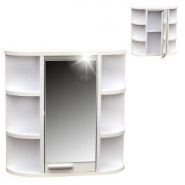 Zrcadlová skříňka 1 dvířka 8 poliček bez pásku