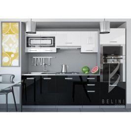 Sektorová kuchyňská linka Luxe 240 cm bez LED osvětlení
