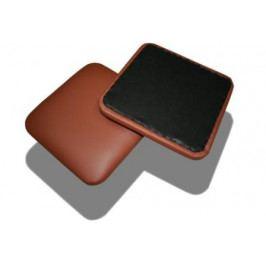 Čalouněný hranatý sedák na židli a stoličku bílošedá - AL12