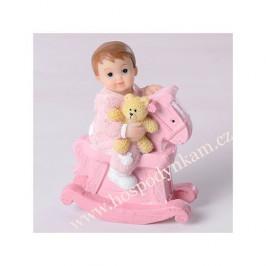 Figurka na dort - holčička na koníkovi